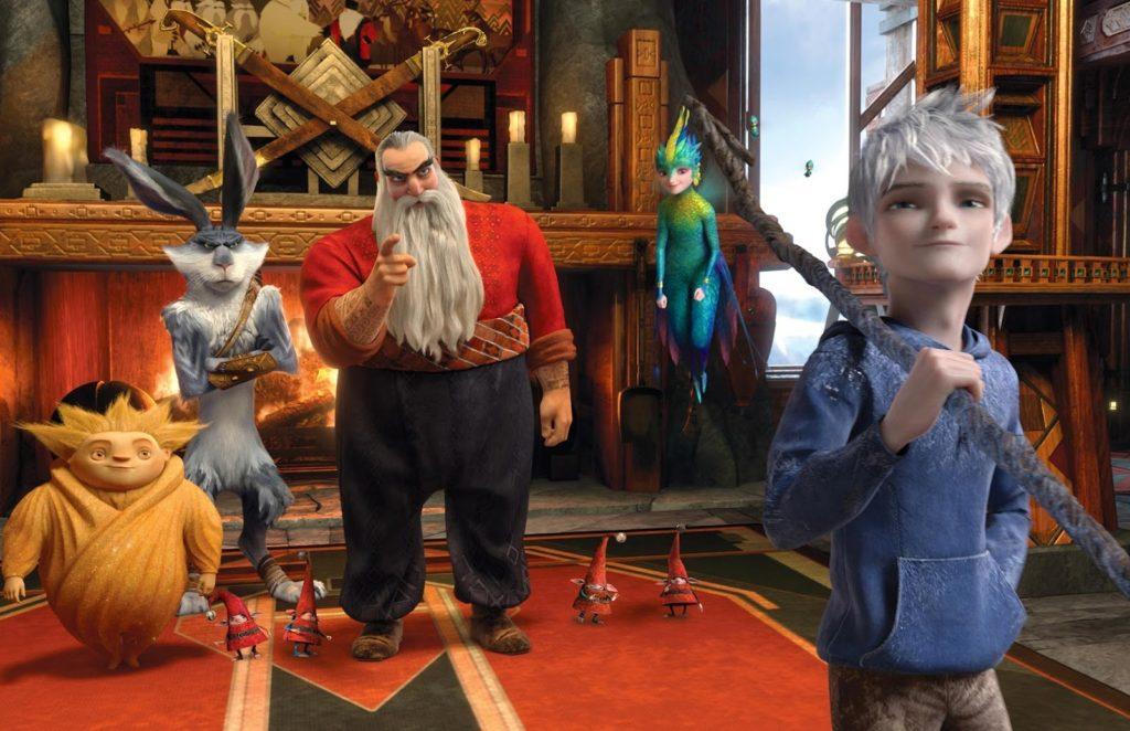 Uyku Perisi, Paskalya Tavşanı (Hugh Jackman), Noel Baba (Alec Baldwin), Diş Perisi (Isla Fisher) ve Jack Frost (Chris Pine)