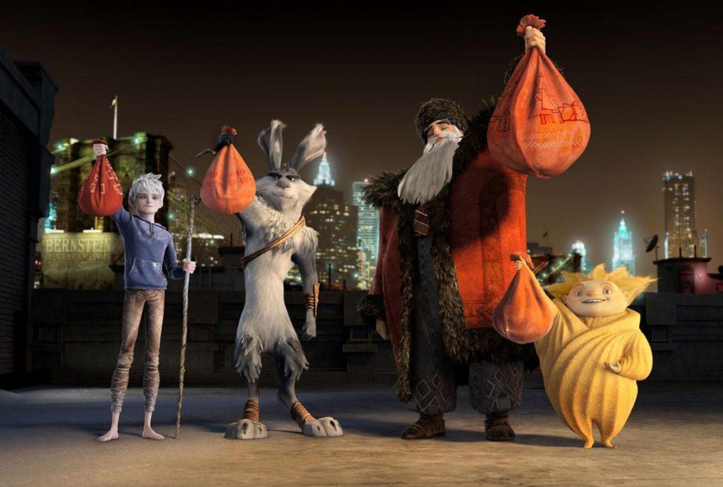 Jack Frost (Chris Pine), Paskalya Tavşanı (Hugh Jackman), Noel Baba (Alec Baldwin) ve Uyku Perisi