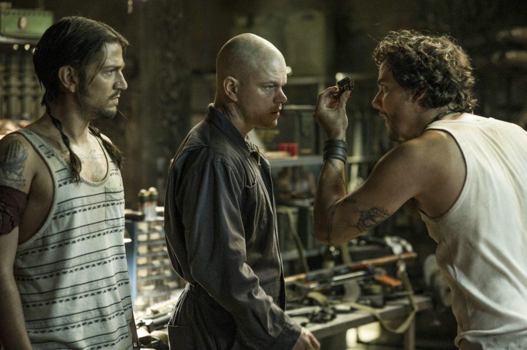 Julio (Diego Luna), Max (Matt Damon) ve Spider (Wagner Moura)