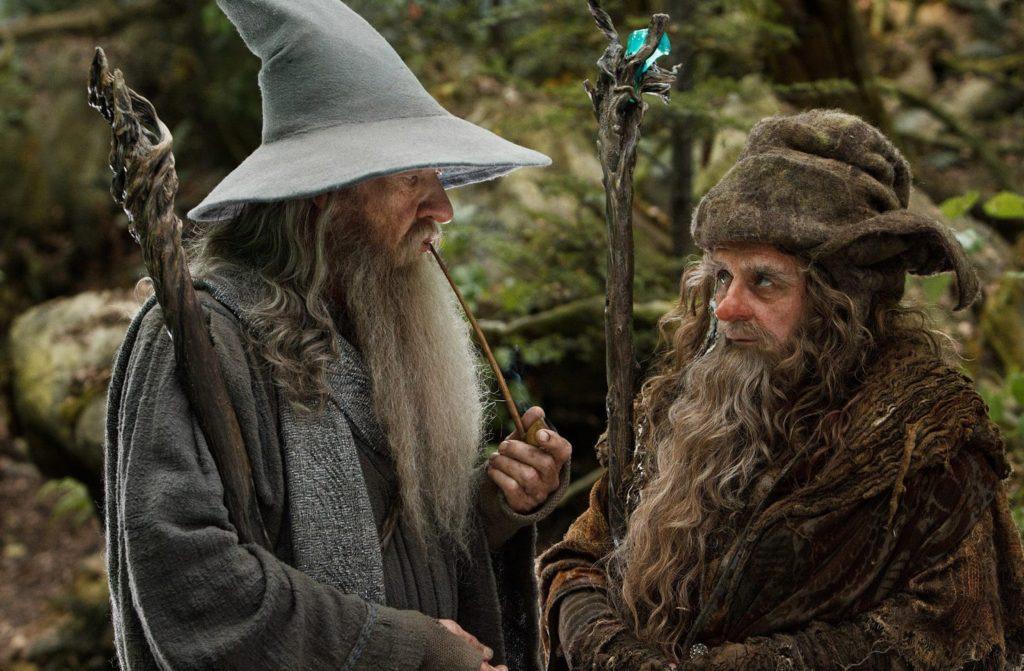 Gandalf (Ian McKellen) ve Radagast (Sylvester McCoy)